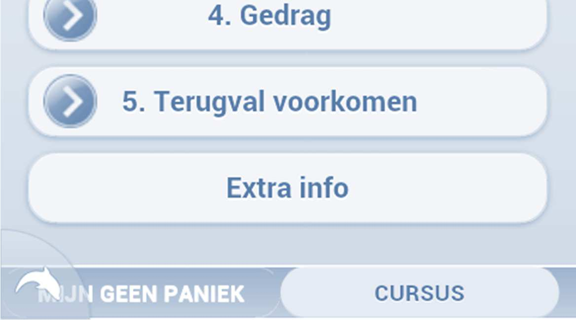 Mobile Version Geen Paniek 37 A lot of respondents had problems to get used to the structure of mijn geen paniek. It is recommended to reconsider this issue.
