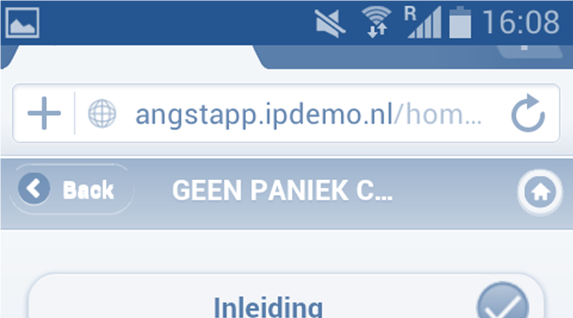 A possible solution could be to reorganize the mijn geen paniek menu like the cursus menu. Another solution could be to choose a completely different structure to avoid confusion.