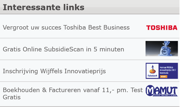 Interessante links Interessante links voorbeeld De tekstlink is een symphatieke vorm van adverteren.