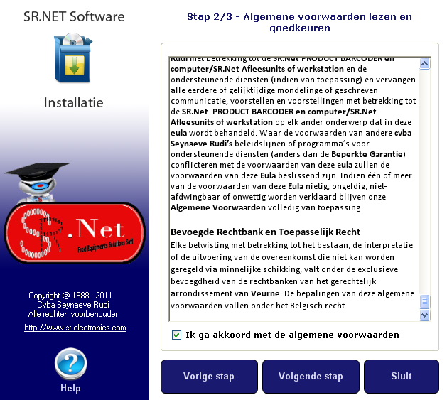 2.4. SR.NET Software Installatie 2.4.1.