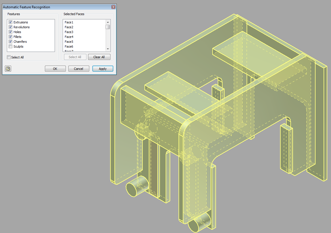 Feature recognition Converteer neutrale 3D CAD models,