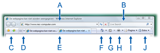 Software en hulpprogramma s Microsoft Internet Explorer (Windows Vista) Software en hulpprogramma s Met een internetverbinding en Microsoft Internet Explorer kunt u over elk mogelijk onderwerp