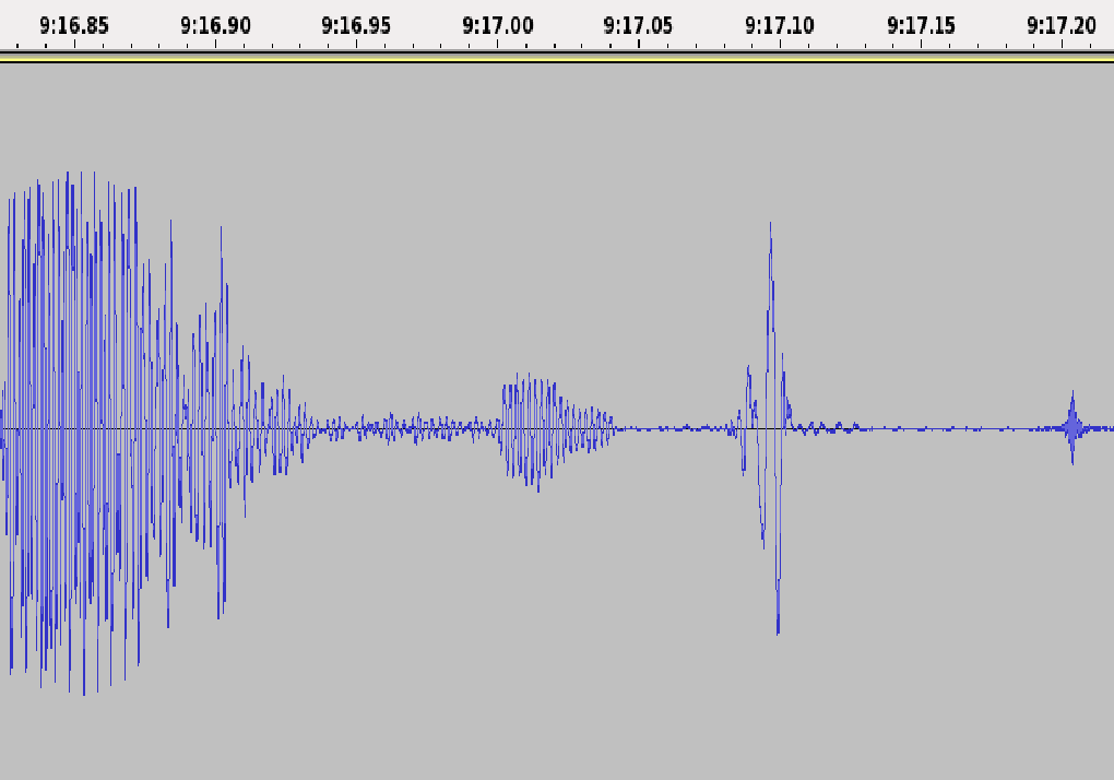 Figure 6: Controversial fragment in file a4-34, at 9:17.08 in the background, also articulating some partial and virtually meaningless speech segment.
