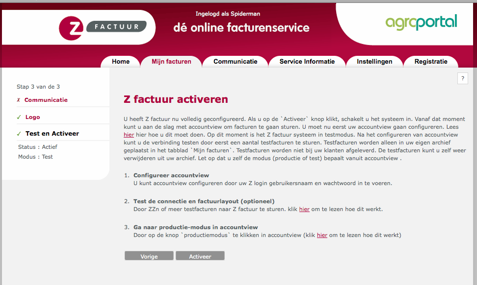 4. Activeren van Z