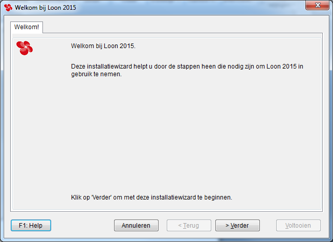 Windows Start, Alle programma s, Loon 2015 Een open deur wellicht, maar u start Loon 2015 op via het Windows-startvlaggetje, Alle