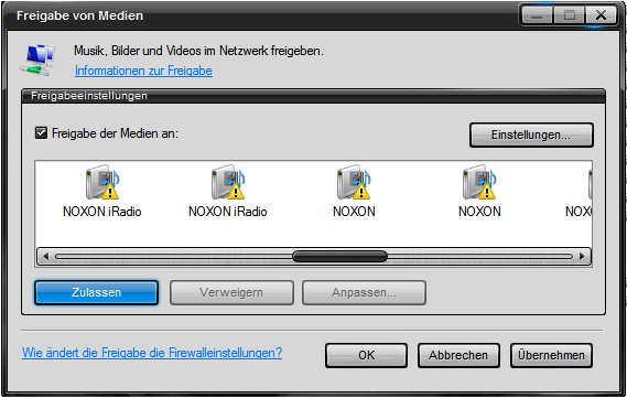 9.4.1 Windows Mediaplayer 11 Als opvolger van de vanouds bekende Windows Media Connect biedt Microsoft de Windows Mediaplayer 11 met geïntegreerde UPnP server aan.