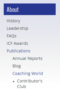website http://www.coachfederation.