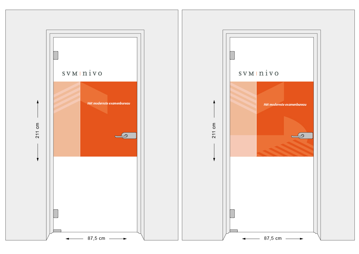 SVM-Nivo: Two designs for the meeting room door