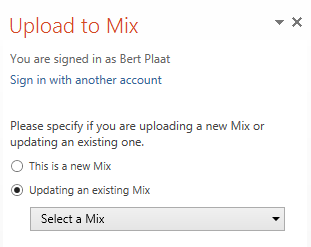 Updates bestaande Mix Is altijd