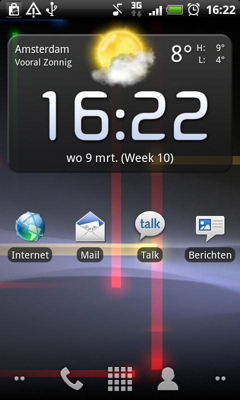 4. Android / HTC Desire HD Start met Kies Mail.