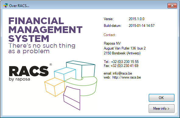 Factsheet RACS Financial