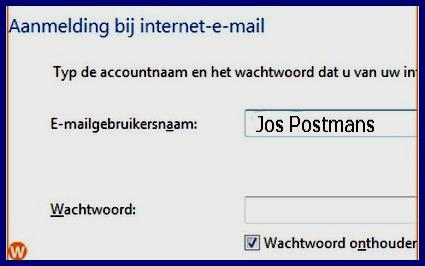 Vooreerst vul je de naam van de server in voor inkomende mail, POP3 (Post Office Protocol). Daaronder vul je dan de server in voor uitgaande e-mail, SMTP (Simple Mail Transfer Protocol).