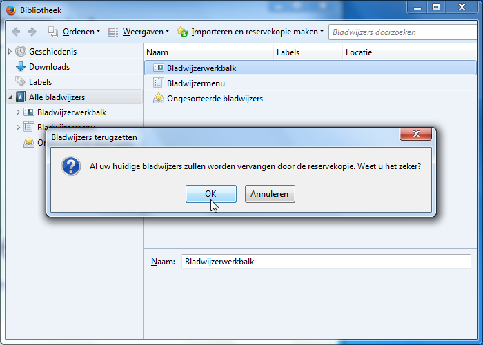favorieten opslaan in windows 10
