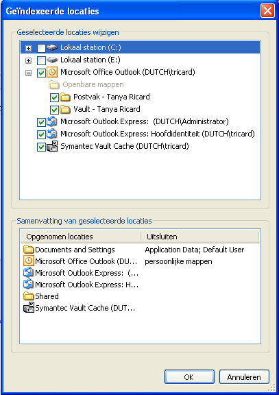 how to search enterprise vault in outlook 2016