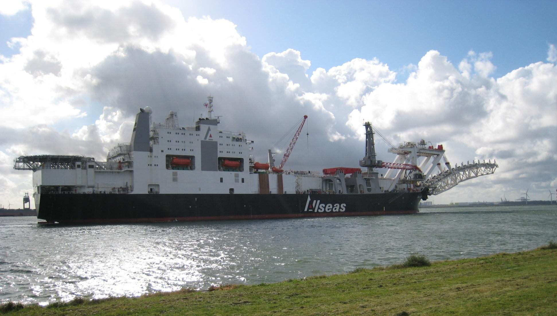 Pipelay Vessel Audacia Allseas Offshore Contractor: Allseas Vessel Conversion