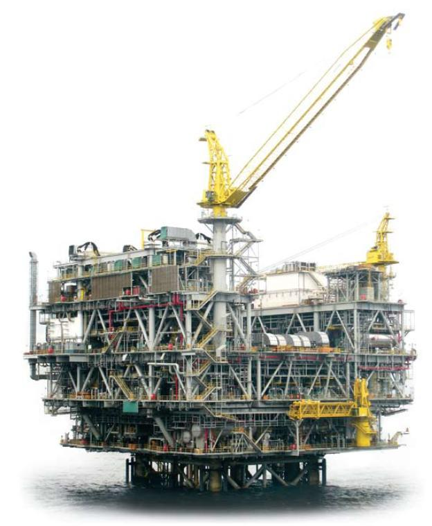 Tombua Landana Platform Chevron Tower base template and piles: Heerema Vlissingen