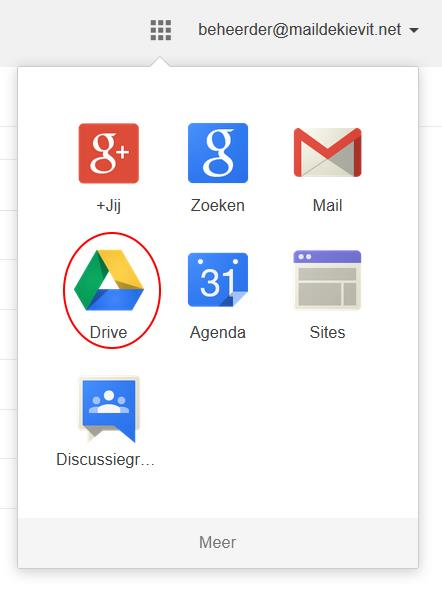 Documenten overdragen naar de nieuwe account (we raden aan om google Chrome te gebruiken bij deze instructies) STAP 1: Via de oude account (over te dragen documenten) 1. Surf naar http://www.google.be 2.