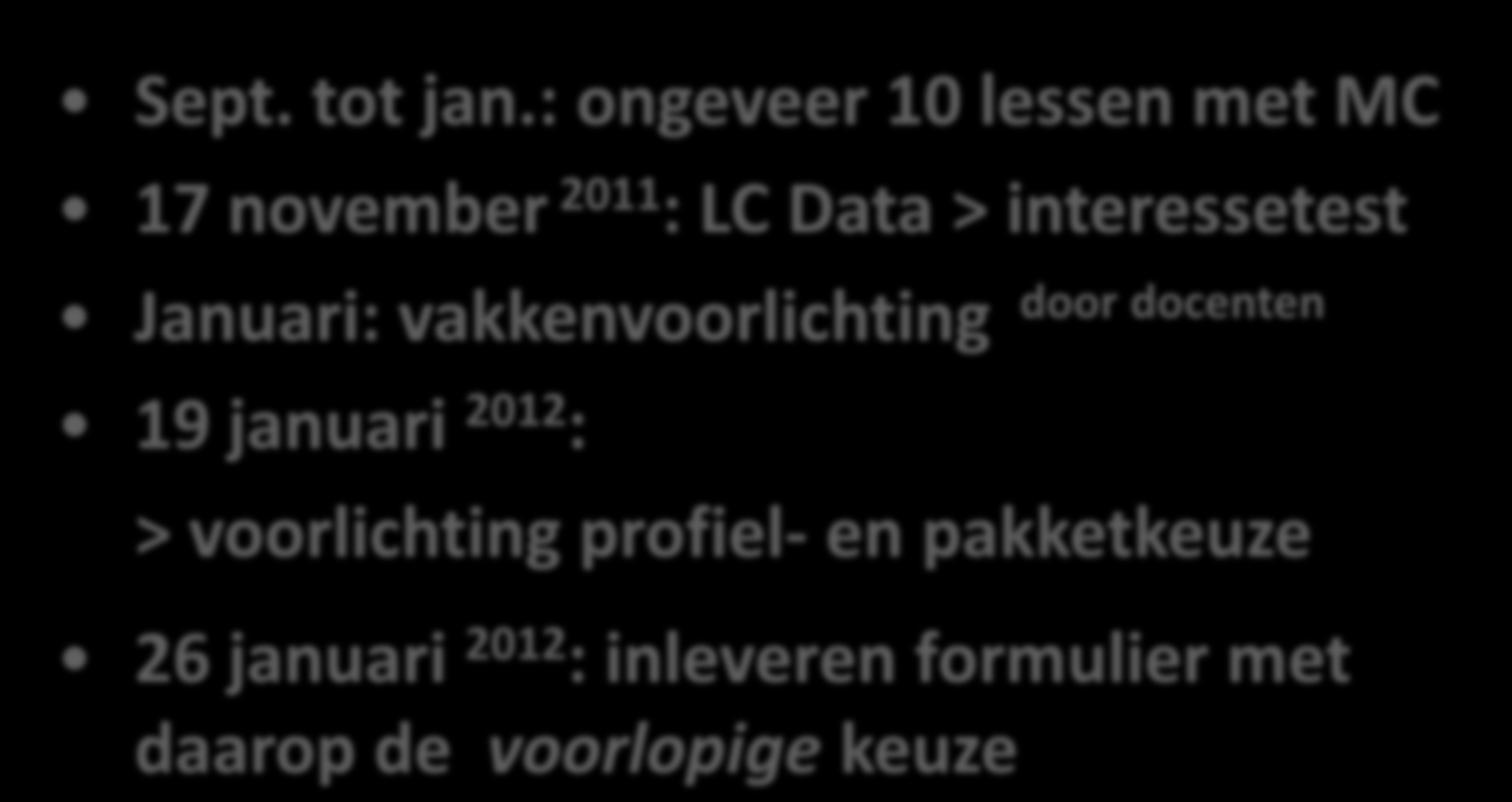 LOB > TIJDPAD Sept. tot jan.