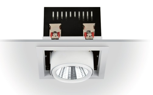 LED Grill Light Type 1 Afwerking : Gespoten Wit Graden Hoek: 12 / 24 / 60 AC100 ~ 240V 3 jaar Model / Art.nr.