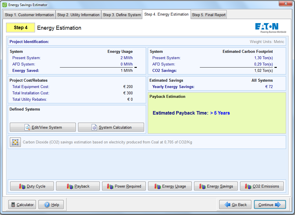 Eaton Energy Savings Estimator 0,75