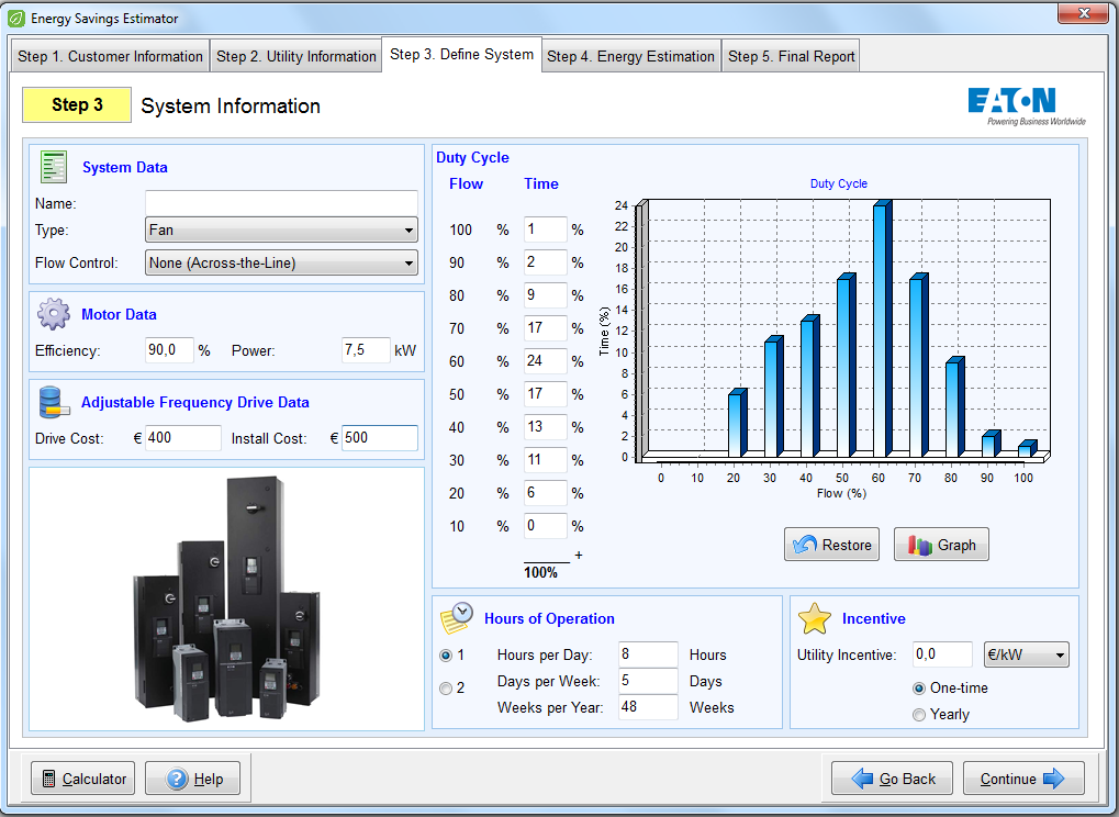 Eaton Energy Savings Estimator 7,5