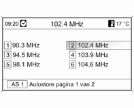 Radio 17 AM-frequentiebereik Draai aan de multifunctionele knop en stel de optimale ontvangstfrequentie in op het pop-up-frequentiedisplay.