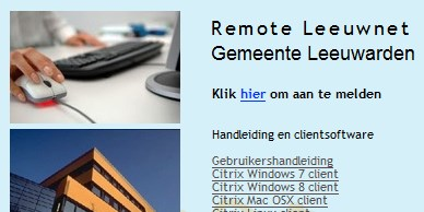 1.3 Remote Portaal instellen op een Windows 8 of 10 pc: 1. Open de browser en ga naar de website www.remoteleeuwnet.nl 2.