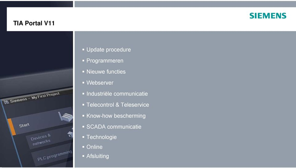 communicatie Telecontrol & Teleservice Know-how
