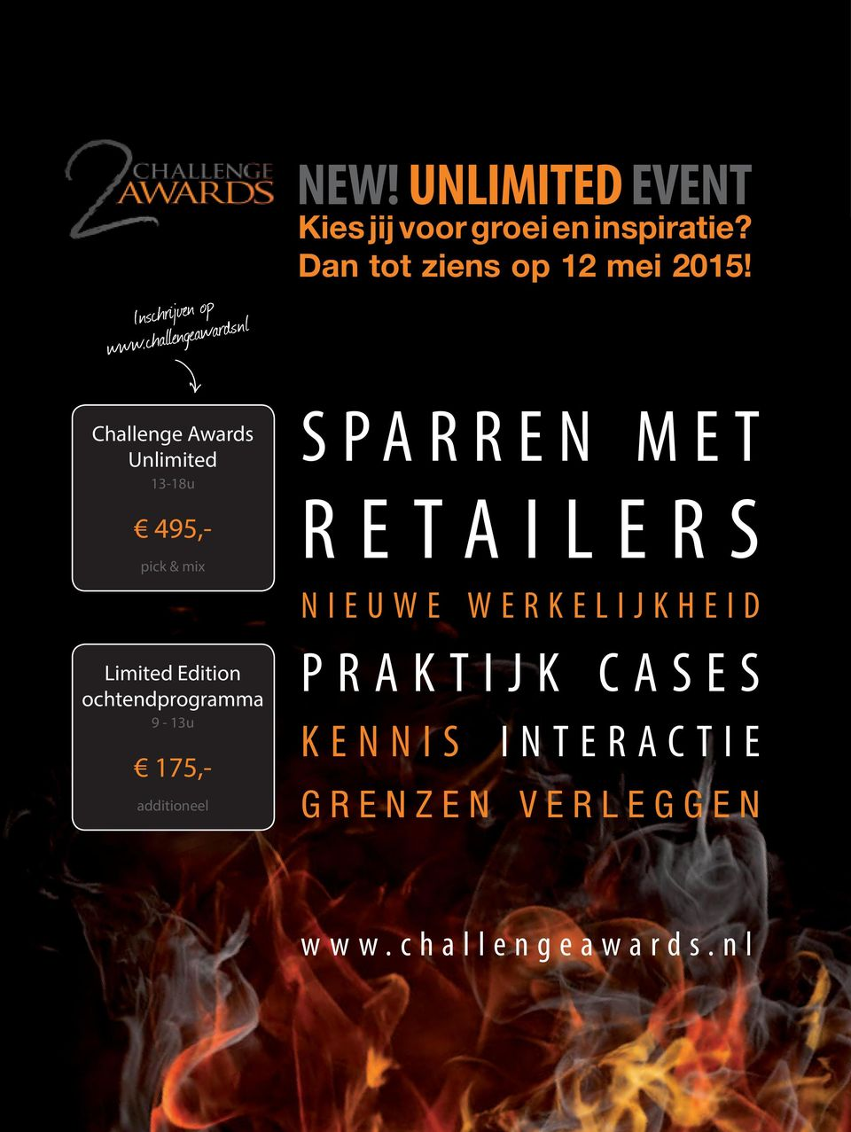 Challenge Awards Unlimited 13-18u 495,- pick & mix Limited Edition ochtendprogramma