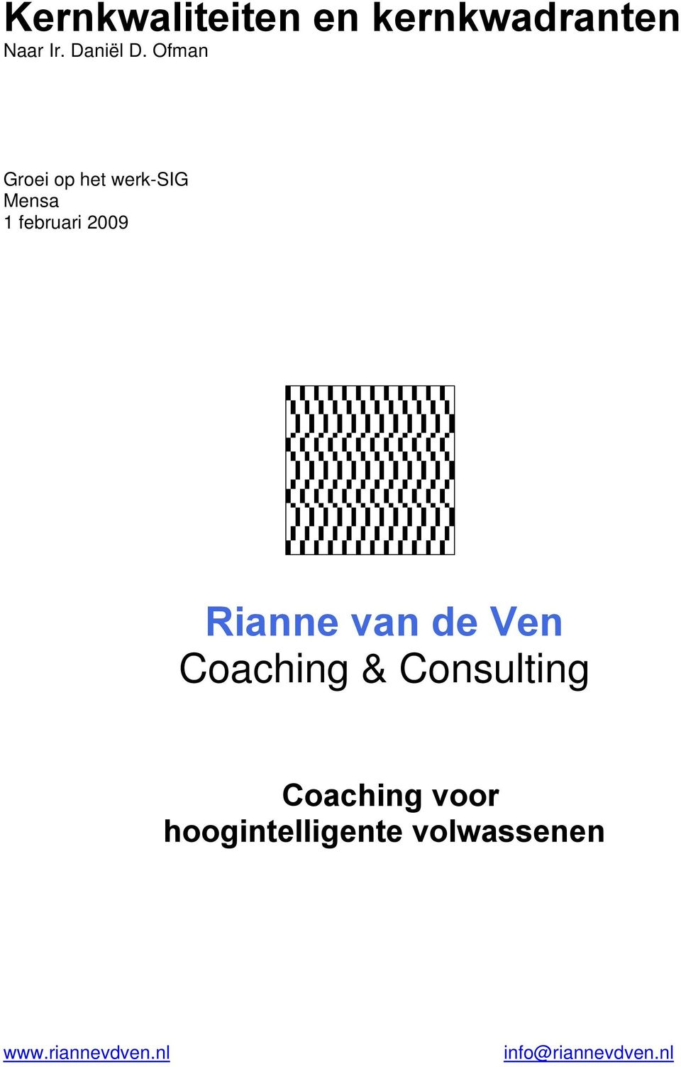 van de Ven Coaching & Consulting Coaching voor