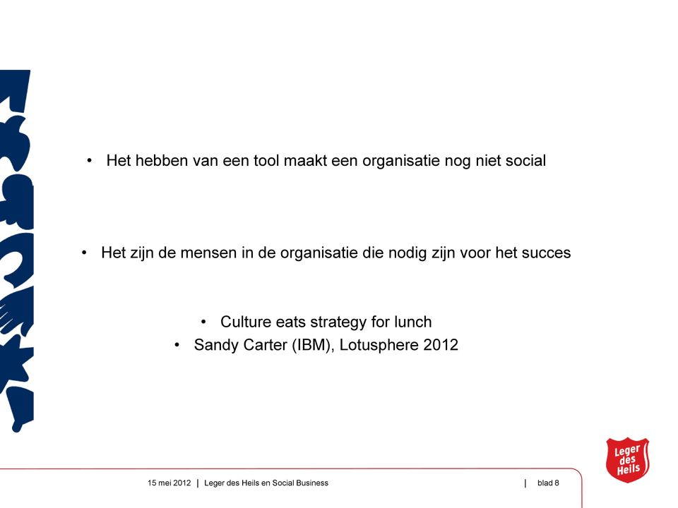succes Culture eats strategy for lunch Sandy Carter (IBM),