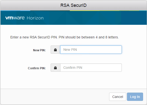 heb krijg je de melding Your new RSA SecurID PIN has been set.