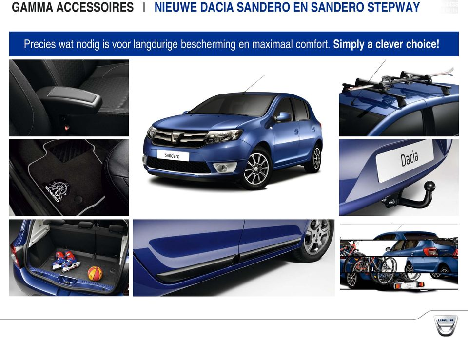 de nieuwe dacia sandero en sandero stepway gamma accessoires pdf. Black Bedroom Furniture Sets. Home Design Ideas