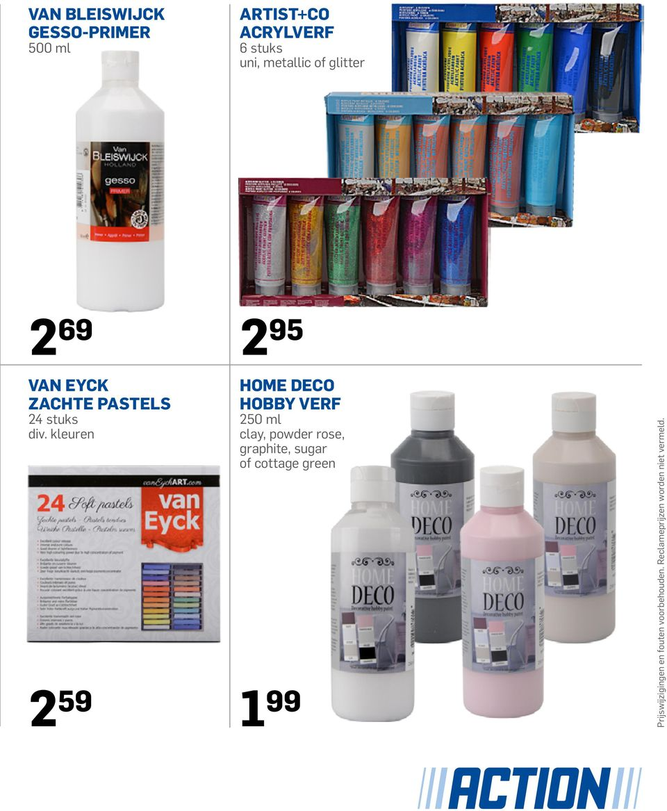 DECO HOBBY VERF 250 ml clay, powder rose, graphite, sugar of cottage green