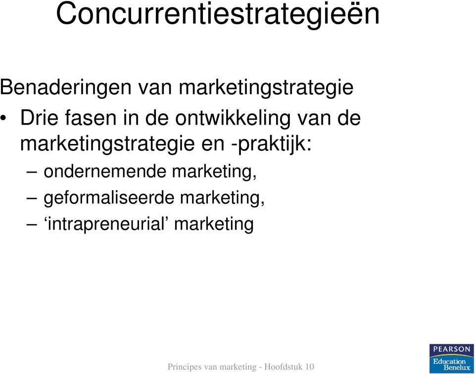 van de marketingstrategie en -praktijk:
