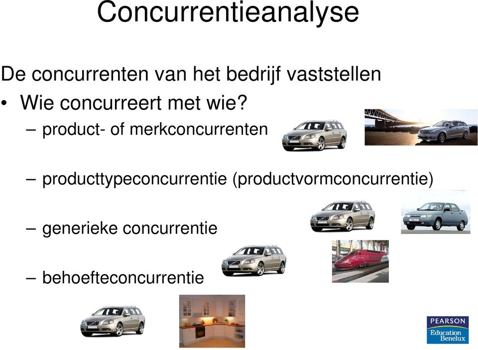 product- of merkconcurrenten producttypeconcurrentie