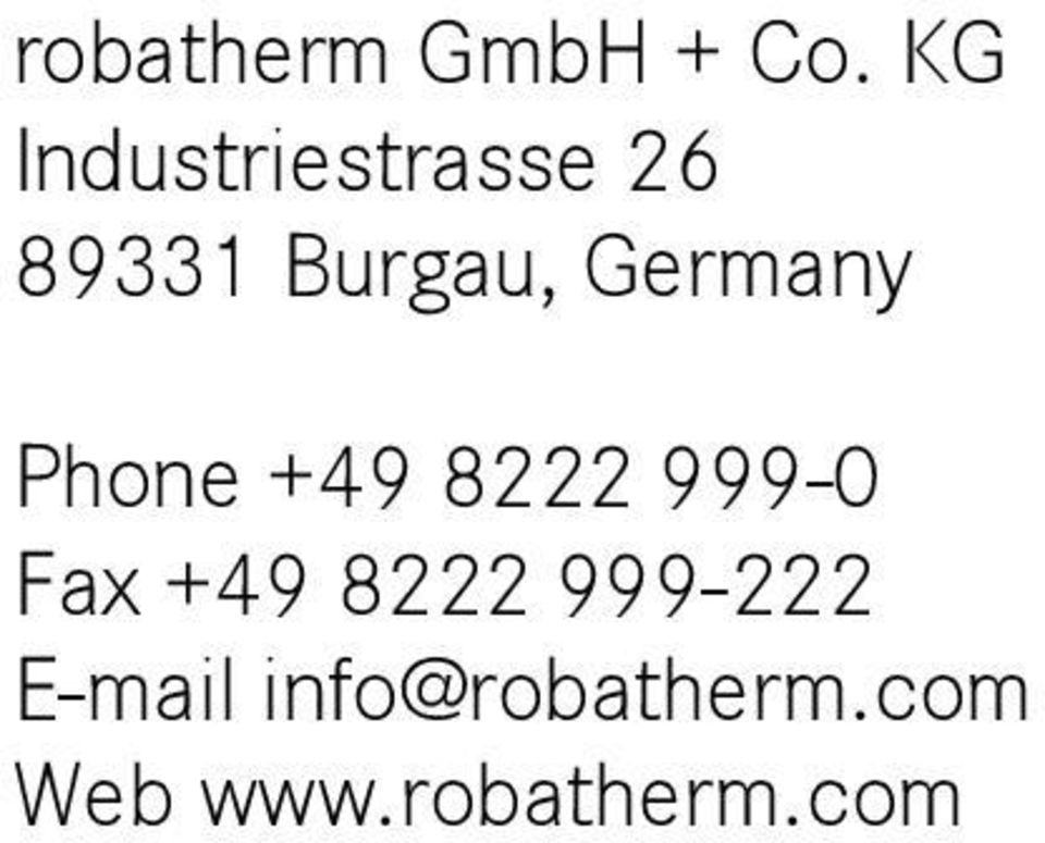 Germany Phone +49 8222 999-0 Fax +49