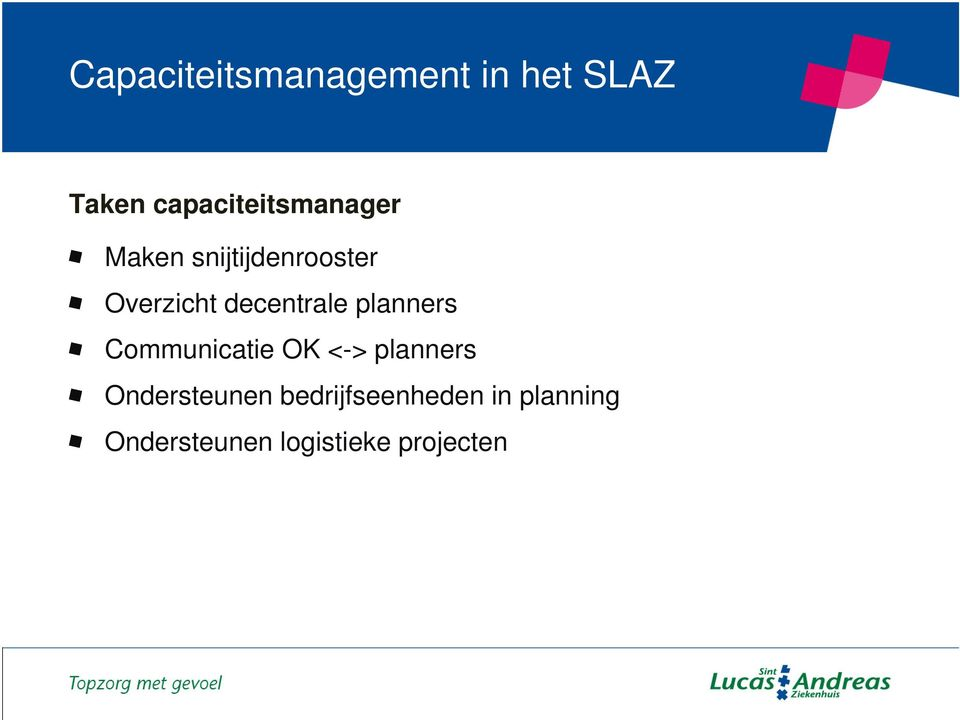 planners Communicatie OK <-> planners