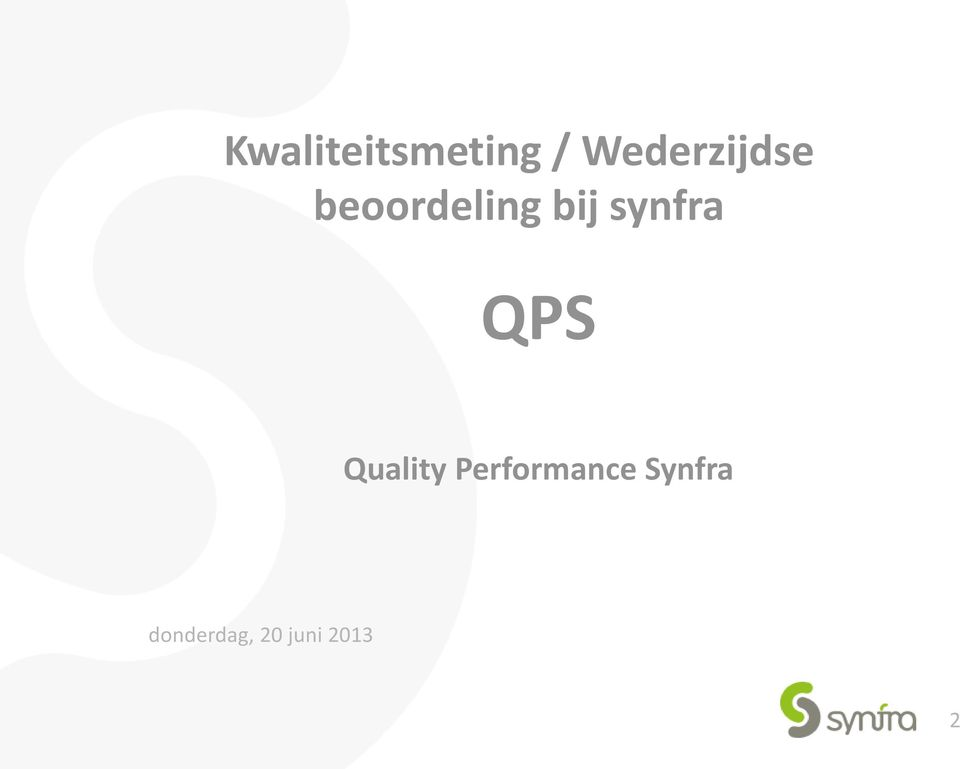 synfra QPS Quality
