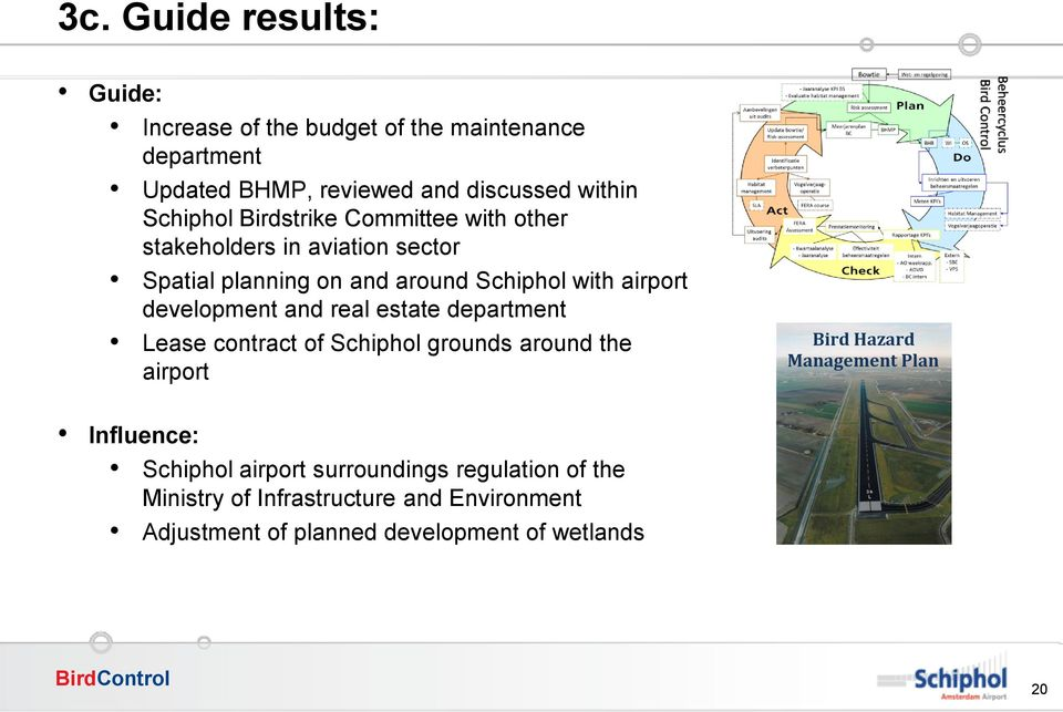 development and real estate department Lease contract of Schiphol grounds around the airport Bird Hazard Management Plan