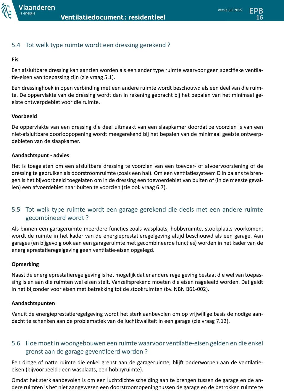 Ventilatiedocument : residentieel - PDF