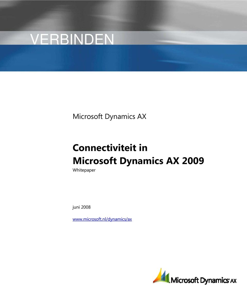 Dynamics AX 2009 Whitepaper