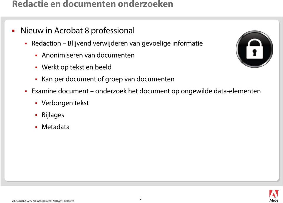 op tekst en beeld Kan per document of groep van documenten Examine document