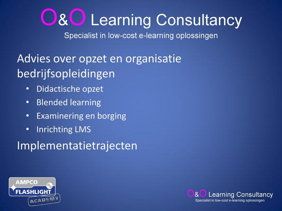 opzet Blended learning Examinering