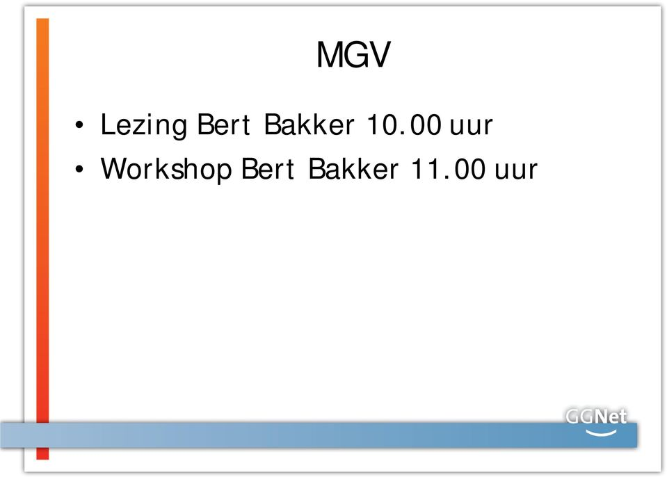 00 uur Workshop