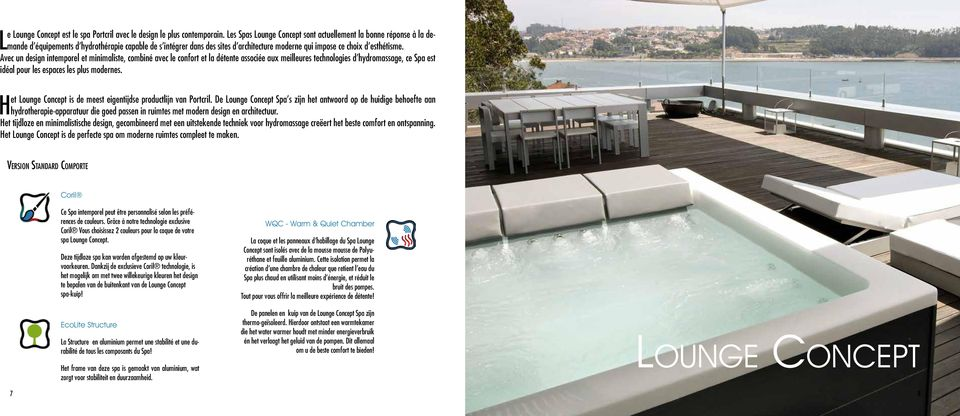 Portcril technologies lounge concept touch zeta power swim extras index technical - Eigentijdse design lounge ...