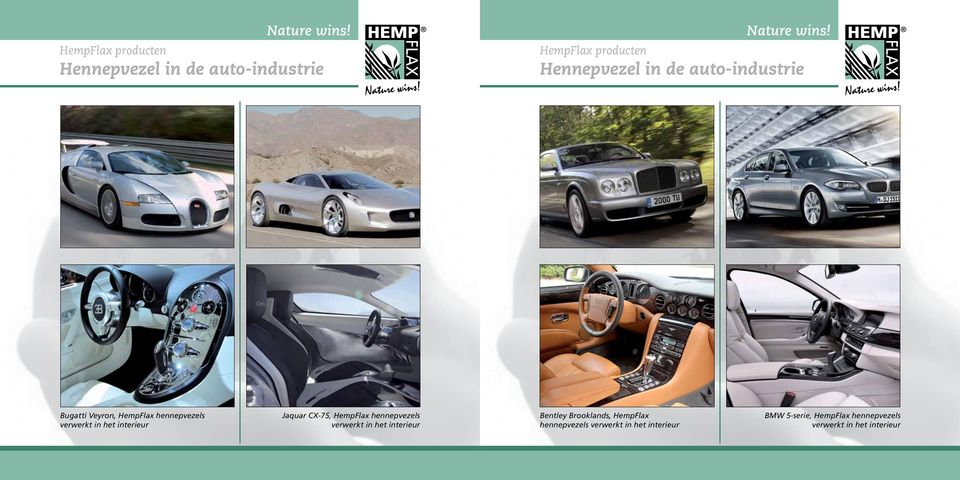 CX-75, HempFlax hennepvezels verwerkt in het interieur Bentley Brooklands, HempFlax