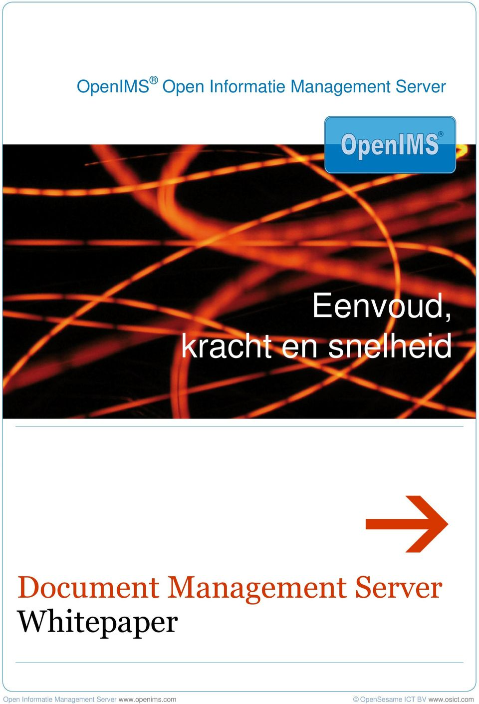 Server Whitepaper Open Informatie Management