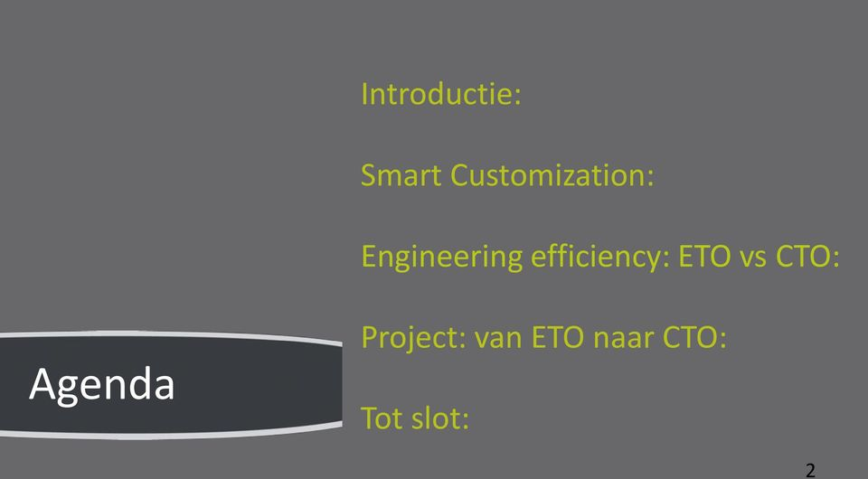 efficiency: ETO vs CTO: