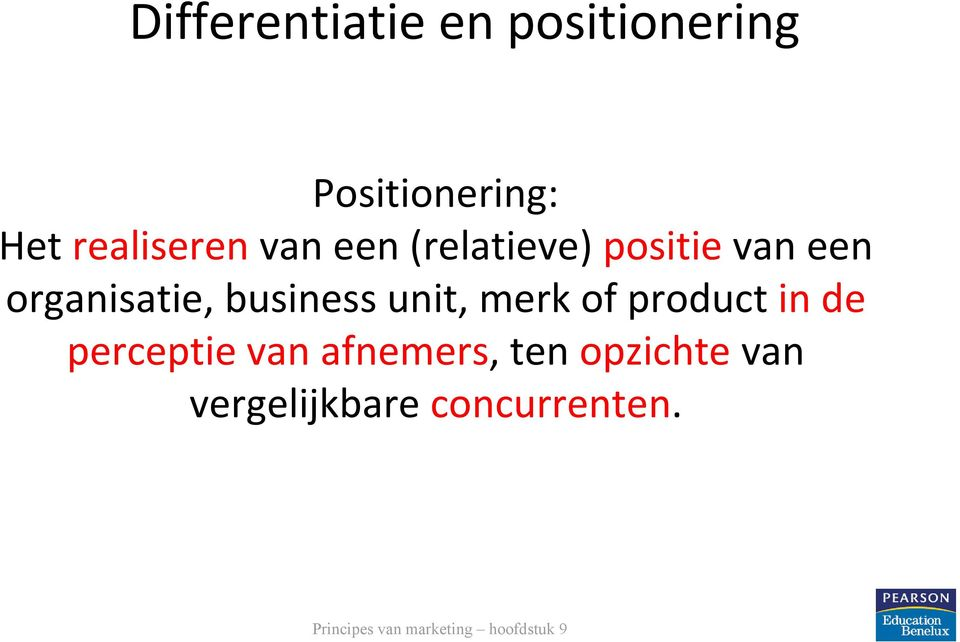 organisatie, business unit, merk of product in de